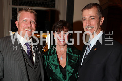 Michael Beaudry, Kathleen Pastor, Paul Pastor. A Night at the Museum Chas Schwartz & Son celebrate Beaudry. Photos by Alfredo Flores.