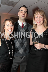 Photo by Alfredo Flores. Jessica Durand Brian Druzol Liz Romig . Choral Arts' Young Patrons Christmas Music Concert and after party at Rivers Restaurant at the Watergate. December 21, 2010.
