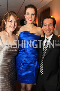 Photo by Alfredo Flores. Kara Mulholland Emilly Riffle John Hazangeles. Choral Arts' Young Patrons Christmas Music Concert and after party at Rivers Restaurant at the Watergate. December 21, 2010.