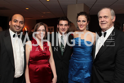 Photo by Alfredo Flores. Dileep Srihani Amy Moore Michael Berg Emiy Riffle Norman Scribner . Choral Arts' Young Patrons Christmas Music Concert and after party at Rivers Restaurant at the Watergate. December 21, 2010.