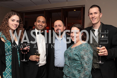 Photo by Alfredo Flores. Elise Beder Dileep Srihani Nello DeBlasio Gretchen Upholt Mike Rowan . Choral Arts' Young Patrons Christmas Music Concert and after party at Rivers Restaurant at the Watergate. December 21, 2010.