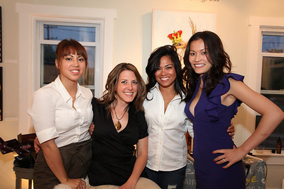 Jenny Sherman, Jennifer Caugh, Pilar Hughes, Michelle Nguyen. Cibu And Covet's Girls' Night Out. May 12th, 2010. Photos By Samantha Strauss.