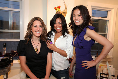Jennifer Caugh, Pilar Hughes, Michelle Nguyen. Cibu And Covet's Girls' Night Out. May 12th, 2010. Photos By Samantha Strauss.