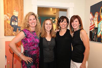 Maura McCool, Dawn Frattarelli, Jennifer Messman, Heidi Ellenberger Jones. Cibu And Covet's Girls' Night Out. May 12th, 2010. Photos By Samantha Strauss.