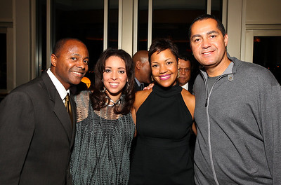 Kevin Dowdell, Joigie Hayes Tolson, Stacie Turner, Don Peebles. Circle of Friends: Reminiscence Weekend. Mandarin Oriental Hotel. November 27, 2009. photos by Tony Powell