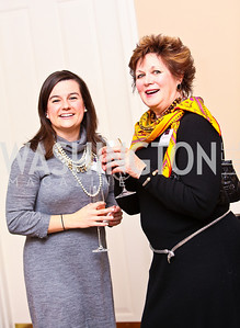 "Photo by Tony Powell. Jodi Blonski, Char Vavrina. Cocktail reception to celebrate the success of the Joan Hisaoka ""Make a Difference"" Gala. Life with Cancer Center. December 9, 2010"