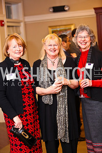 "Photo by Tony Powell. Anne Harrington, Meg Lay, Marsha Komandt. Cocktail reception to celebrate the success of the Joan Hisaoka ""Make a Difference"" Gala. Life with Cancer Center. December 9, 2010"