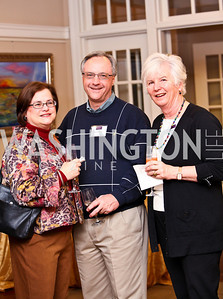 "Photo by Tony Powell. Susan and Mark Stauder, Sabine Gnesdiloff. Cocktail reception to celebrate the success of the Joan Hisaoka ""Make a Difference"" Gala. Life with Cancer Center. December 9, 2010"