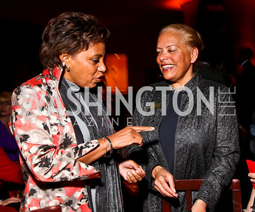 Photo by Tony Powell. Lauri Fitz-Pegada, Harriet Sanford. DC Jazz Festival Annual Benefit Dinner. Italian Embassy. October 5, 2010