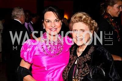 Photo by Tony Powell. Grace Bender, Lindy Boggs. DC Jazz Festival Annual Benefit Dinner. Italian Embassy. October 5, 2010