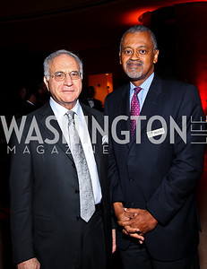 Photo by Tony Powell. Michael Sonnenreich, Claude Bailey. DC Jazz Festival Annual Benefit Dinner. Italian Embassy. October 5, 2010