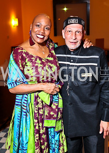 Photo by Tony Powell. Jazz Singer Dee Dee Bridgewater, Charles Fishman. DC Jazz Festival Annual Benefit Dinner. Italian Embassy. October 5, 2010