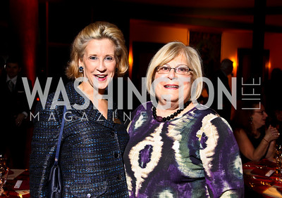 Photo by Tony Powell. Marcia Mayo, Linda Sonnenreich. DC Jazz Festival Annual Benefit Dinner. Italian Embassy. October 5, 2010