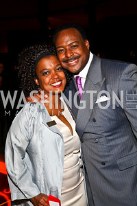 Photo by Tony Powell. Sunny Sumter, Leon Harris. DC Jazz Festival Annual Benefit Dinner. Italian Embassy. October 5, 2010