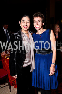 Photo by Tony Powell. Yoriko Fujisaki, Meryl Chertoff. DC Jazz Festival Annual Benefit Dinner. Italian Embassy. October 5, 2010