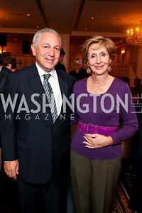 Morocco Ambassador Aziz and wife Maria Felice Mekouar. A dinner and concert in support of the 2010 DC Jazz Festival. The Madison Hotel. October 27, 2009. photos by Tony Powell
