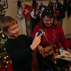 Christmas Eve at Nan-Nut and Pop's house...Nan-Nut and Pop-Pop got Aidan a camera!