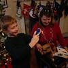 Christmas Eve at Nan-Nut and Pop's house...Nan-Nut and Pop-Pop got Aidan a camera!