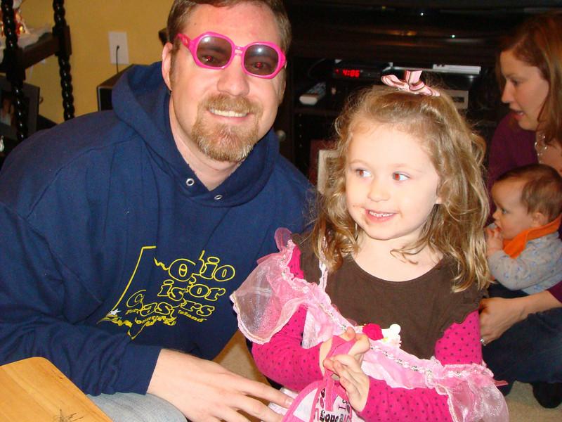 Abby let Chris borrow her shades  :)