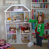 Abby loves the dollhouse we all got her for her birthday!