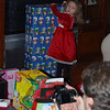 Abby and her huge gift, which turned out to be a change table and other cool stuffs for her dolls