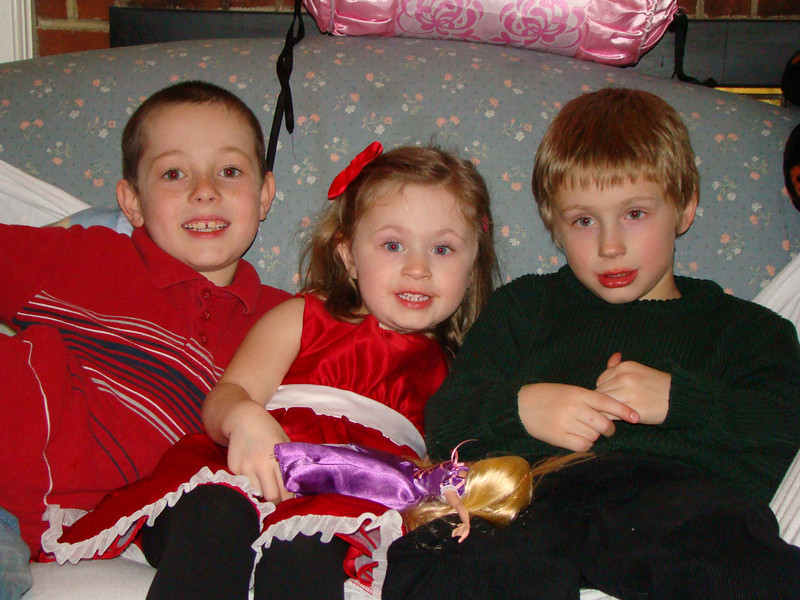 Jonathan, Abby and Aidan..we couldn't get the baby to sit for a picture