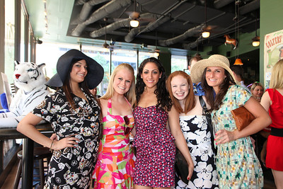 Tiffany Ward, Jennifer Biron, Julie Ashin, Hailey Shultz, Erin Bassman. Derby Day: Benefiting National Jewish Health. May 15, 2010. Photos By Samantha Strauss.