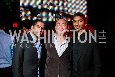 Photo by Tony Powell. Kunal Shah, Charles Zhou, Vinoda Basnayake. Eden's Winter Rooftop Launch. November18, 2010