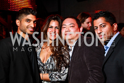 Photo by Tony Powell. Vinod Basnayake, Dannia Hakki, Charles Zhou, Kunal Shah. Eden's Winter Rooftop Launch. November18, 2010