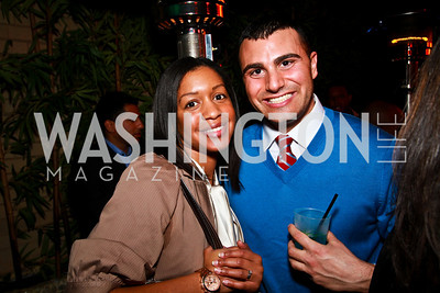 Photo by Tony Powell. Crystal Martinez, George Raad. Eden's Winter Rooftop Launch. November18, 2010