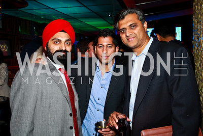 Photo by Tony Powell. Manpreet Singh, Kunal Shah, PV Boccasam. Eden's Winter Rooftop Launch. November18, 2010