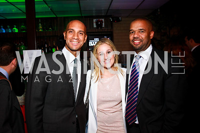 Photo by Tony Powell. Adrian Fenty, Tracy Sandler, Mathhew Cutts. Eden's Winter Rooftop Launch. November18, 2010