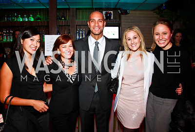Photo by Tony Powell. Jennifer Nguyen, Carrie Kohns, Adrian Fenty, Tracy Sandler, Helen Hare. Eden's Winter Rooftop Launch. November18, 2010