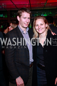 Photo by Tony Powell. Rufus Lusk, Katharine Zaleski. Eden's Winter Rooftop Launch. November18, 2010