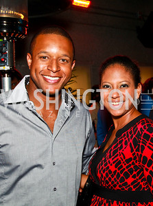 Photo by Tony Powell. Craig Melvin, Angela Bellamy. Eden's Winter Rooftop Launch. November18, 2010