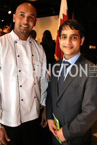 Chef Sunil Kiriwane, Embassy of the State of Qatar, Mohammed Yacoub Al Madadi. Embassy Chef Challenge. March 18, 2010. Photos by Alfredo Flores
