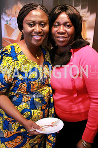 Marthar Pobee, Vanessa Mensah-Adu, First Secretary (Information), Embassy of Ghana. Embassy Chef Challenge. March 18, 2010. Photos by Alfredo Flores