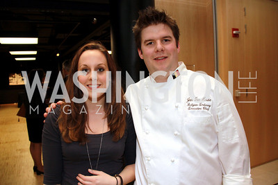 Helena Björkholm, Chef Jan Van Haute, Embassy of Belgium. Embassy Chef Challenge. March 18, 2010. Photos by Alfredo Flores.