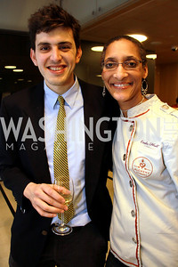Alex Bearman, Chef Carla Hall. Embassy Chef Challenge. March 18, 2010. Photos by Alfredo Flores.
