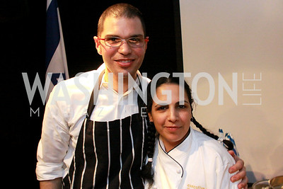 Amir Rozen, Chef Einat Admony, Embassy of Israel. Embassy Chef Challenge. March 18, 2010. Photos by Alfredo Flores.