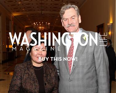 Kyrgyz Amb. Zamira Sydykova and Horton Beebe-Center. Eurasia Foundation's Inaugural Fundraising Dinner. January 12, 2010. Mayflower Hotel. photos by Tony Powell