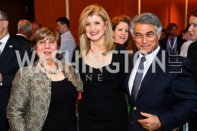 Photo by Tony Powell. Shahla Kamali, Arianna Huffington, Thomas Kamali. Fed Talks 2010. Harman Center. October 12, 2010