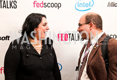 Photo by Tony Powell. Goldy Kamali, Craig Newmark. Fed Talks 2010. Harman Center. October 12, 2010