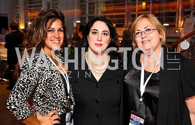 Photo by Tony Powell. Dannia Hakki, Goldy Kamali, Sherry Moeller. Fed Talks 2010. Harman Center. October 12, 2010