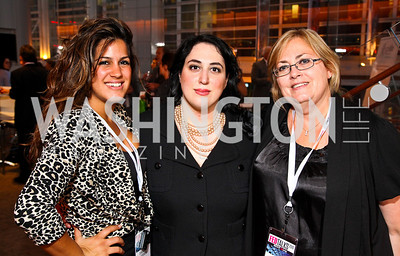 Photo by Tony Powell. Dannia Hakki, Goldy Kamali, Sherry Moeller. Fed Talks 2010. Harman Center. October 12, 2010