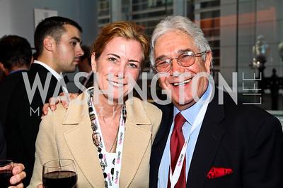 Photo by Tony Powell. Jackie Ryback, Art Verbin. Fed Talks 2010. Harman Center. October 12, 2010