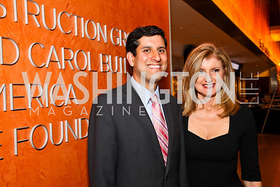 Photo by Tony Powell. Vivek Kundra, Arianna Huffington. Fed Talks 2010. Harman Center. October 12, 2010