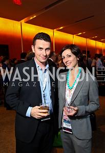 Photo by Tony Powell. Alex Howard, Gretchen Curtis. Fed Talks 2010. Harman Center. October 12, 2010
