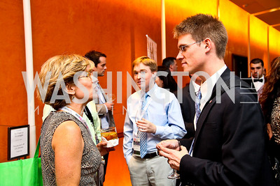 Photo by Tony Powell. Jessie Newburn, Chris Kemp. Fed Talks 2010. Harman Center. October 12, 2010