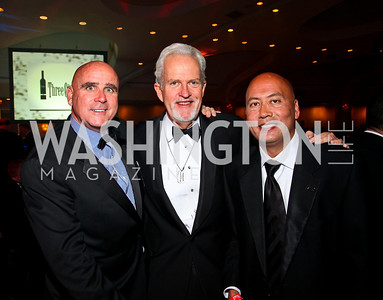 Photo by Tony Powell. Michael Murphy, Jack Davies, Jimmy Lynn. Fight Night. Hilton Hotel. November 11, 2010